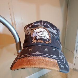 Pit Bull Premium Vintage Eagle& Stars Ballcap